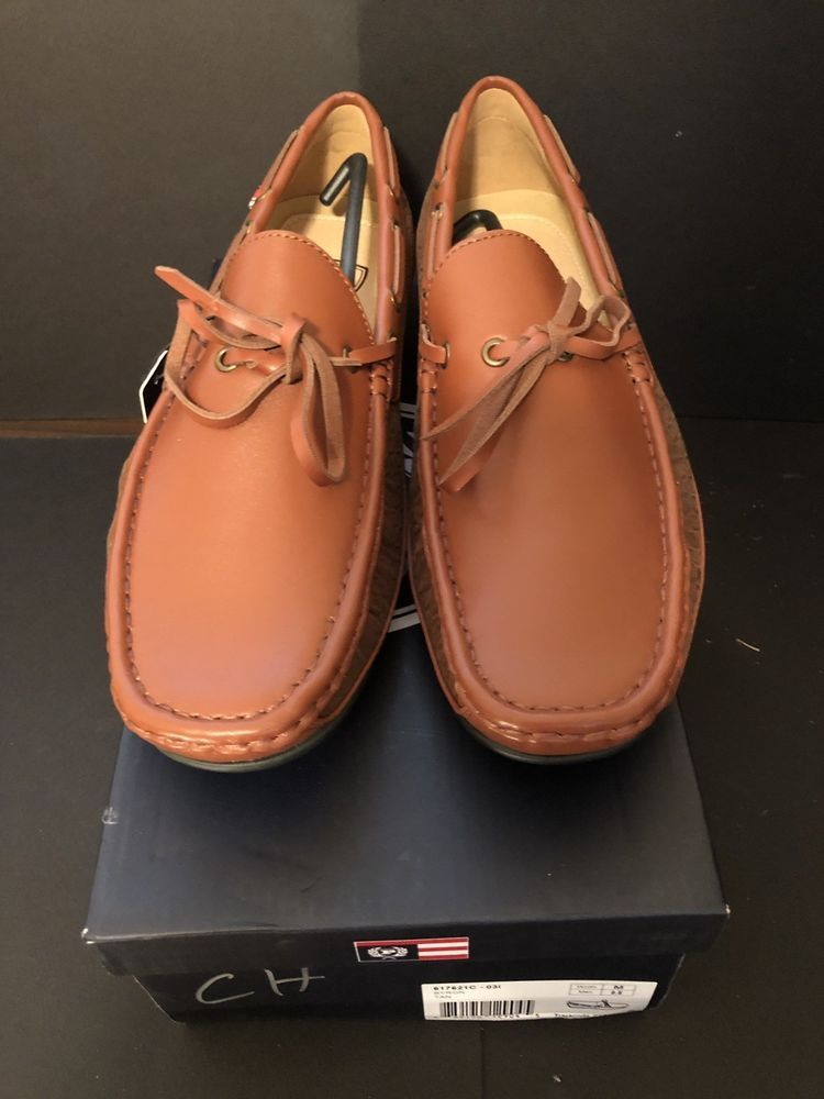 871a9babb01 NWT PHAT FARM Comfort Tech Brown Men s Size 9.5 Loafers Boat Flats Shoes  Bryon  fashion