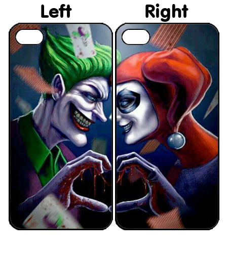 Harley Quinn With Joker Couple iPhone 4S 5S 5C 6 6Plus, iPod 4 5, LG G2 G3 Nexus 4 5, Sony Z2 Couple Cases