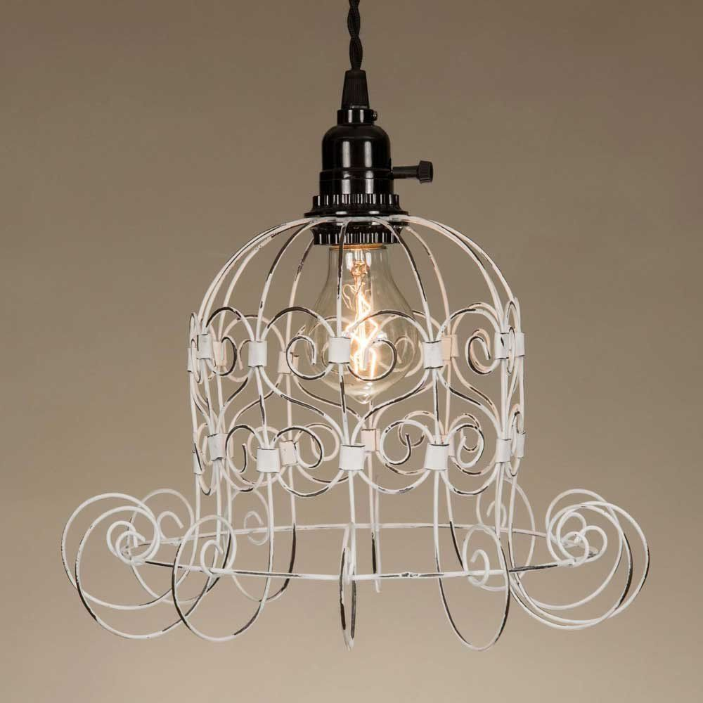 Romantic shabby pendant lamp ceiling hooks lamp cord and pendant