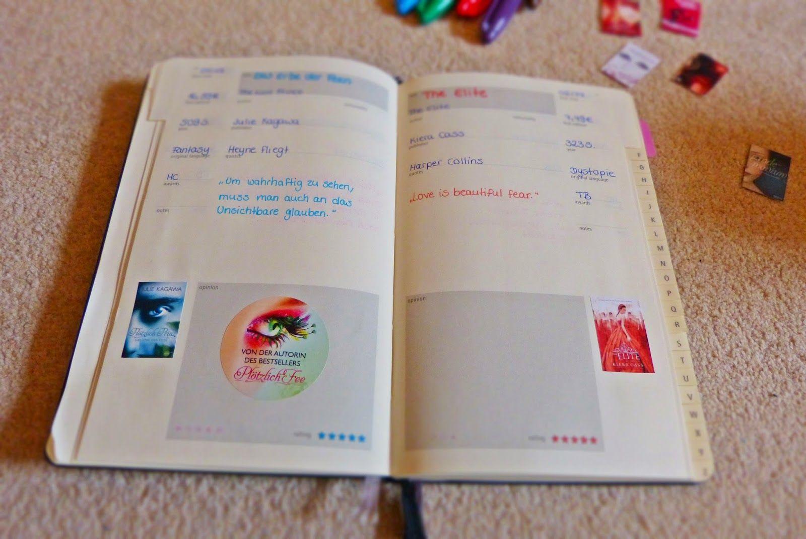 Bibliomaniac   Bücher machen Leute: Mein Book Journal