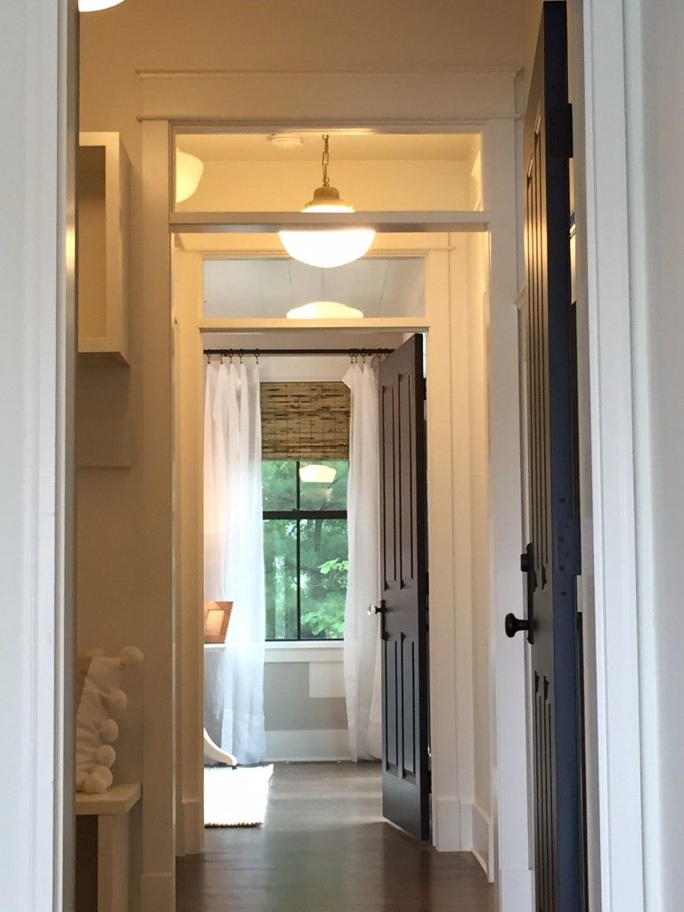 Love the window above doors to let more light in and out - Interior door with window on top ...