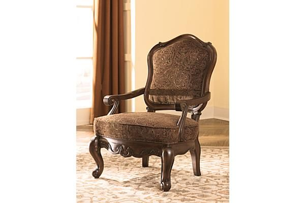 The North Shore Accent Chair From Ashley Furniture Homestore Afhs Com All Leather Upholstery In North Shore Leather Featuring The Luxur Accent Chairs Furniture Brown Accent Chair