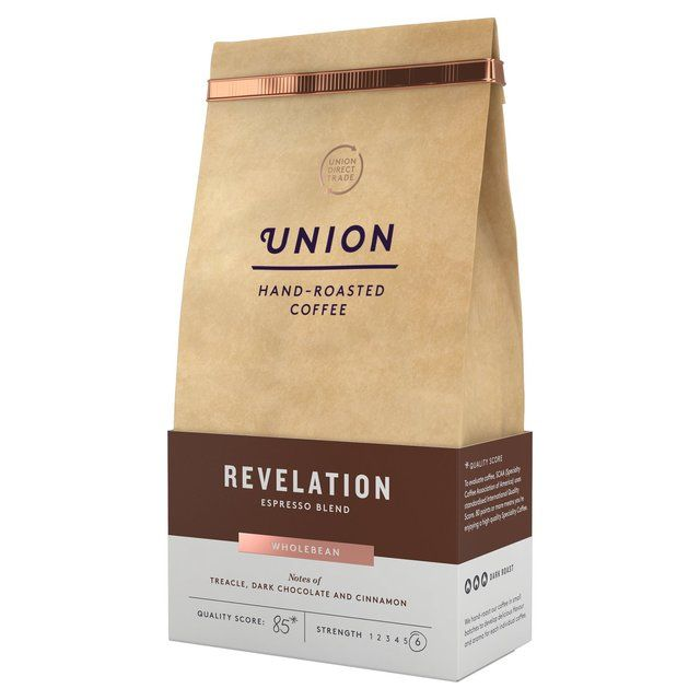 Union Coffee Espresso Blend Coffee Beans Revelation 200g From Ocado Coffee Roasting Roasted Coffee Beans Organic Coffee