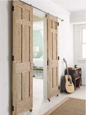 Split Sliding Doors Home Home Diy Home Projects