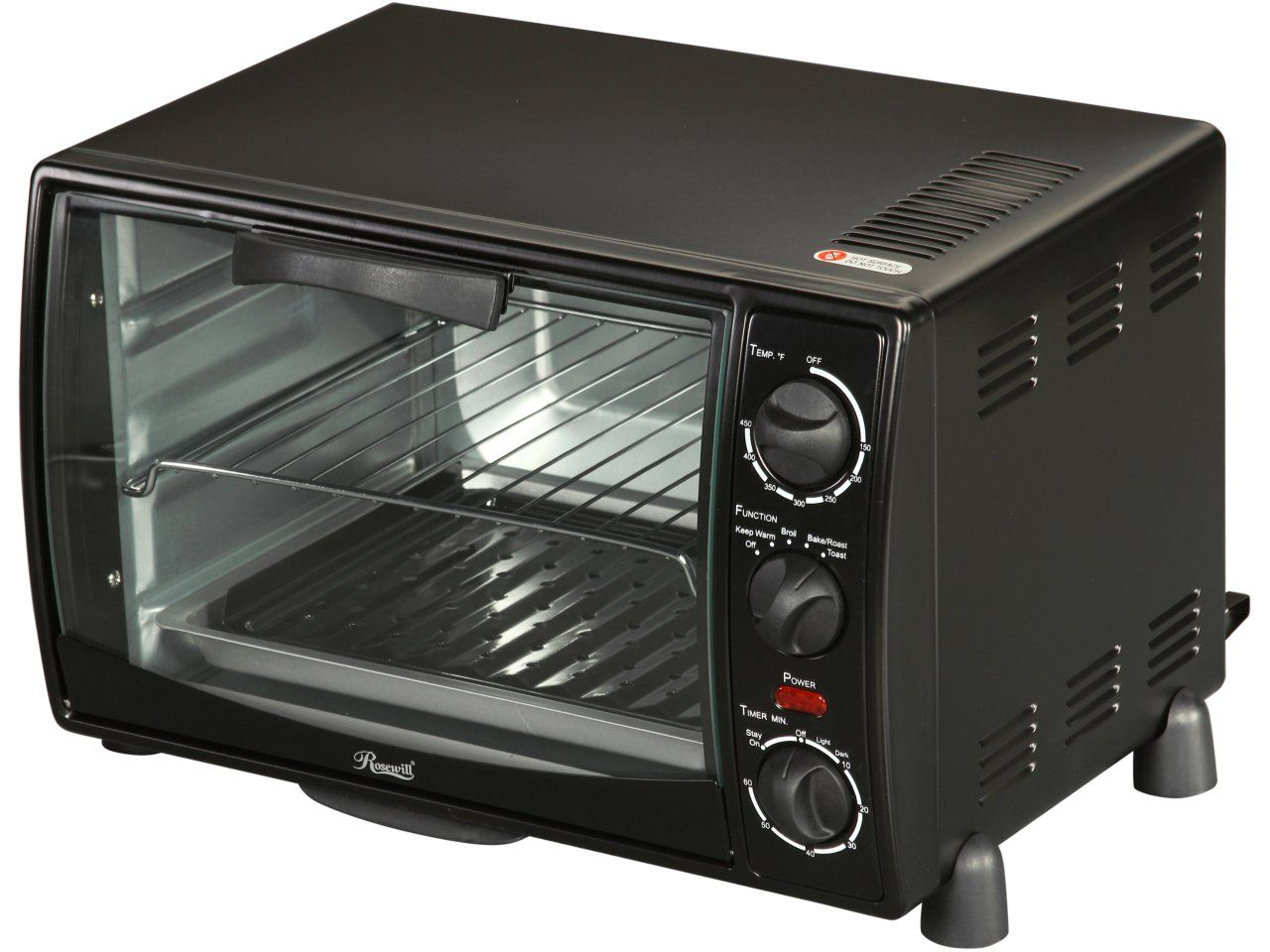 Newegg Rosewill Rhto 13001 6 Slice Black Toaster Oven Broiler With