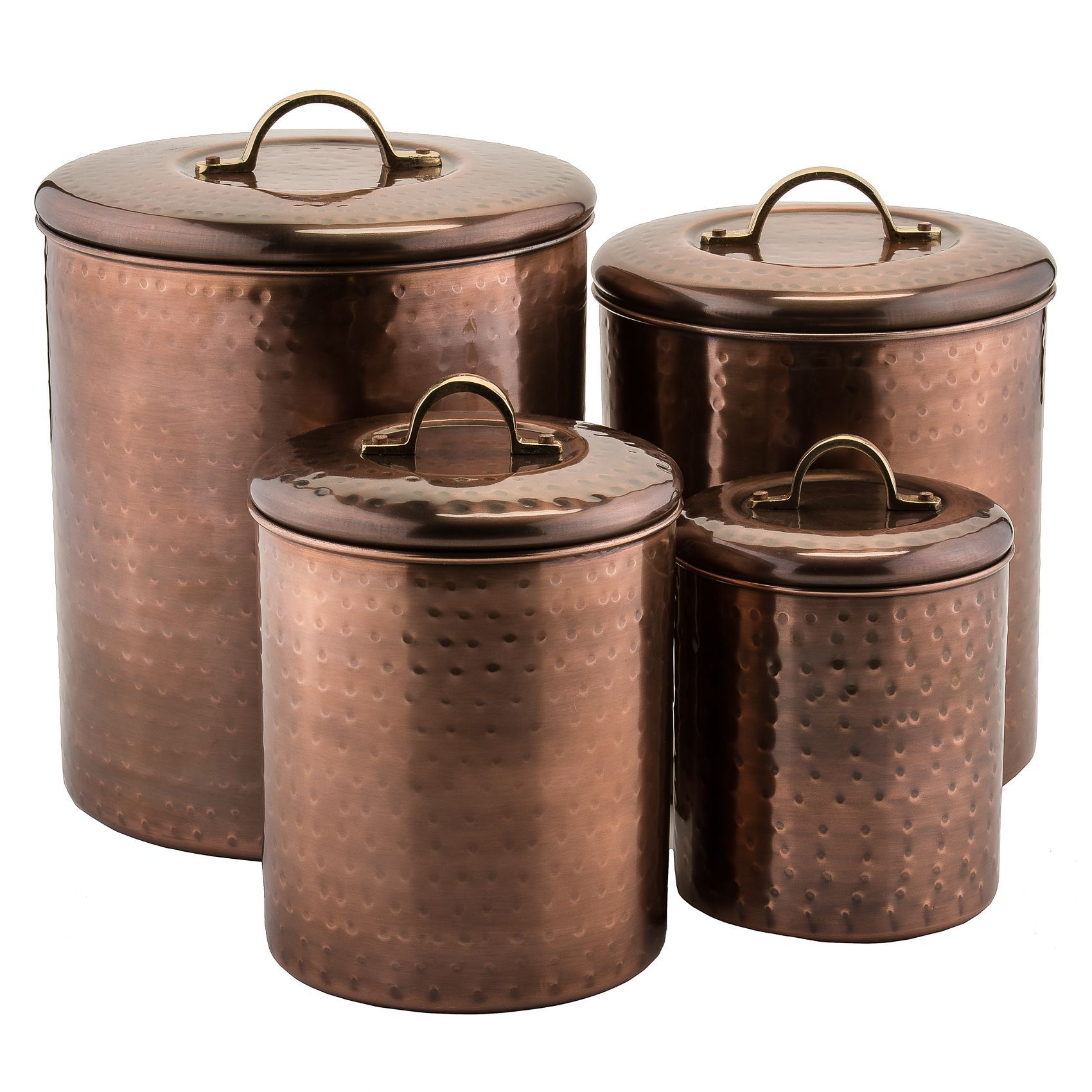 slim brushed stainless steel canister set stainless steel