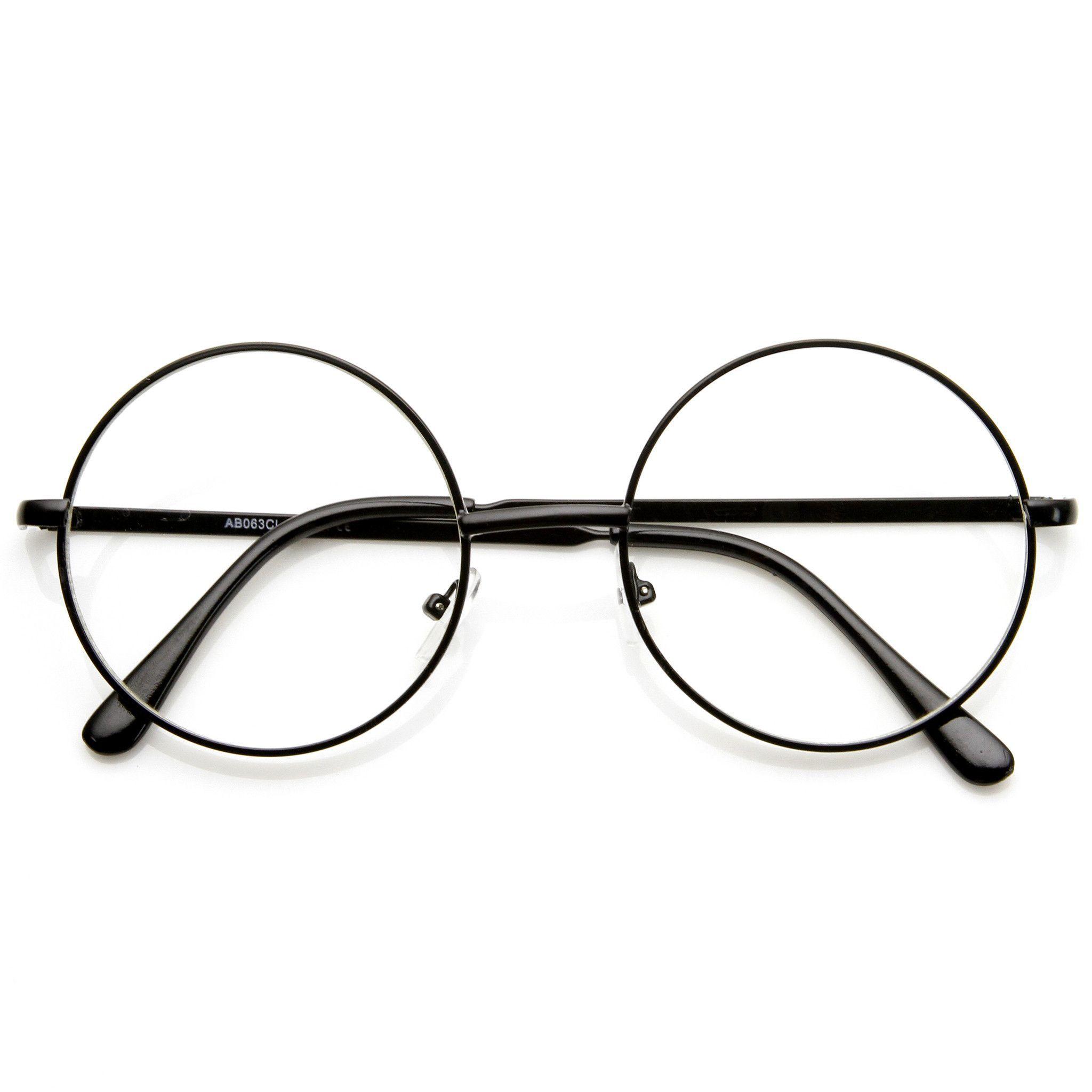 8c8ff0565bb Vintage Lennon Inspired Clear Lens Round Frame Glasses 9222