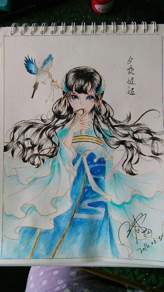 công chúa chim hoàng anh Anime, Drawing, Nghệ thuật
