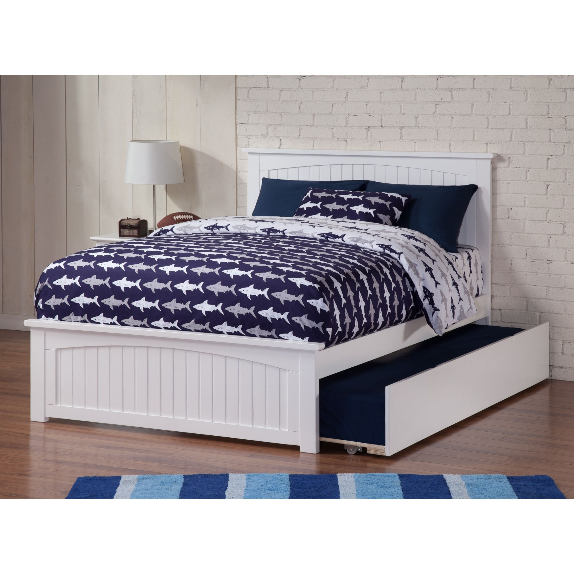 Atlantic Furniture Nantucket Full Bed with Matching Foot Board with ...