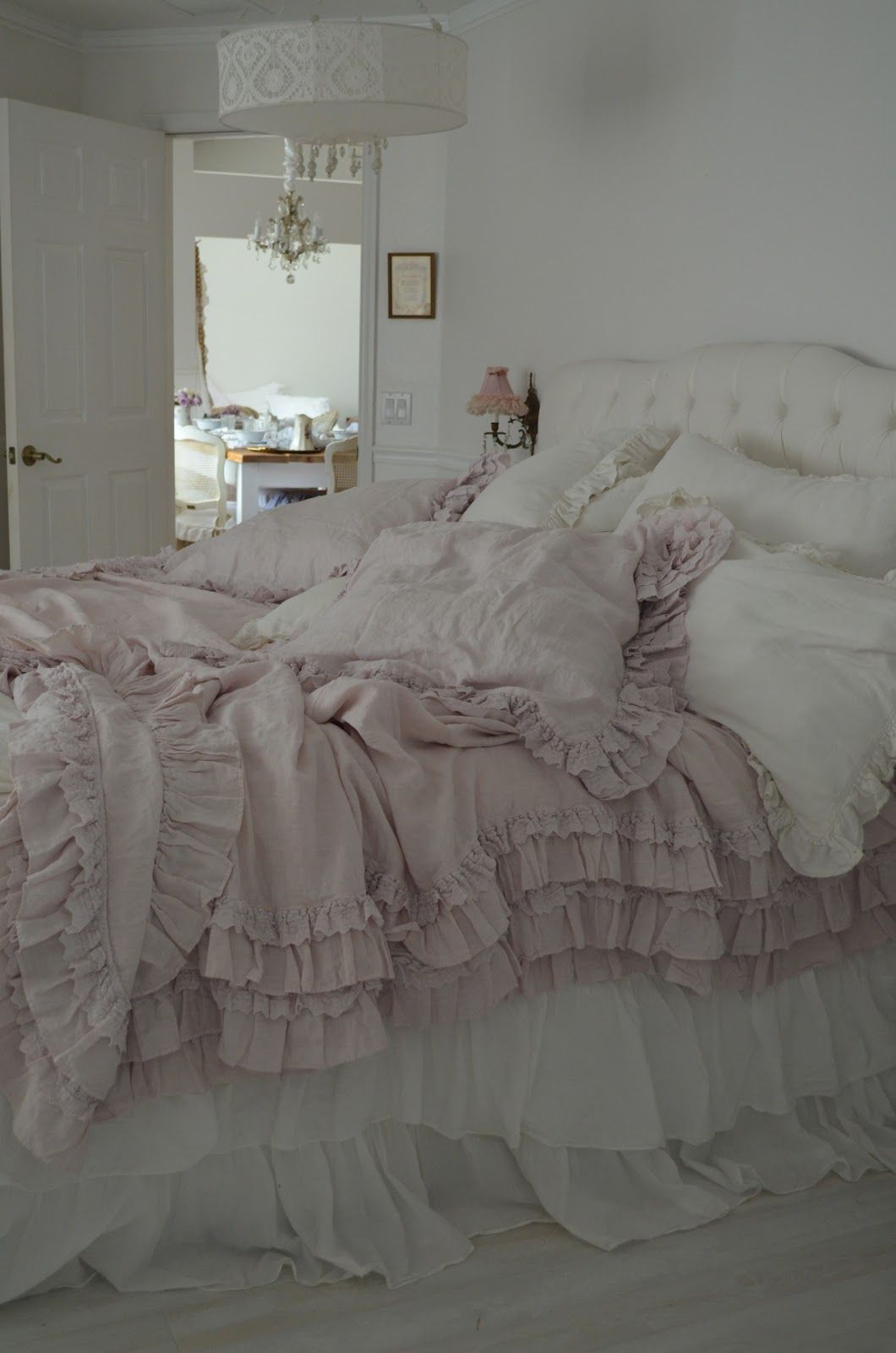 Its Here The Rachel Ashwell Petticoat Bedding In Pink Shabby Chic Bedrooms Shabby Bedroom Shabby Chic Bedding