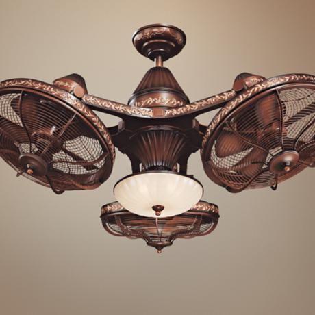38 Quot Esquire Rich Bronze Finish 3 Head Ceiling Fan Home