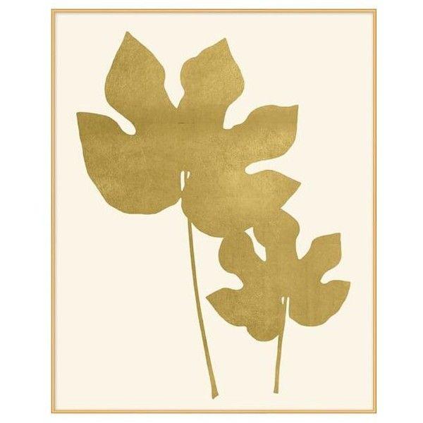 Pottery Barn Gold Leaf Fern Framed Print 2 ($299) ❤ liked on ...