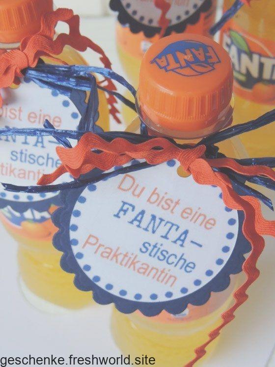 """Kleines Abschiedsgeschenk für alle die """"Fanta-stisch"""" sind #abschiedsgeschenkerzieherin"""
