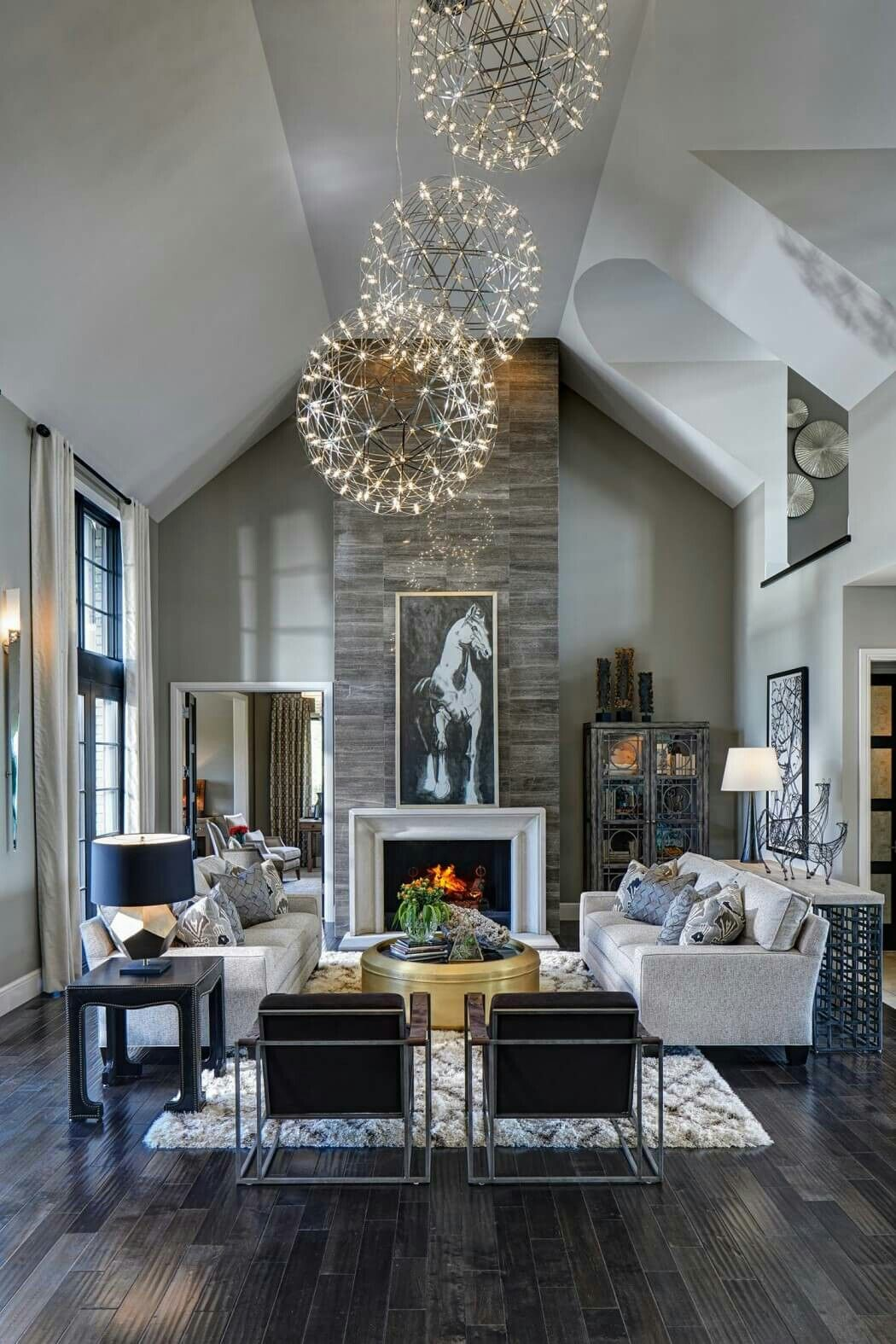 Explore Modern Rustic Decor Two Story Fireplace