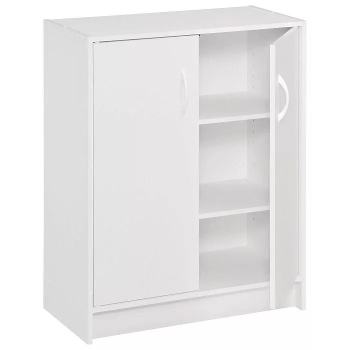 Closetmaid Two Door Storage Cabinet White In 2020 Door Storage Storage Cabinet