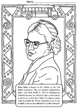 Black History Coloring Pages w Biographies, Activities, 71 ...