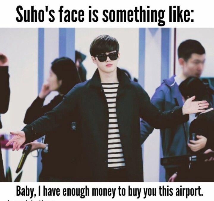 Suho the sugar daddy exo memes exo exo kaisoo