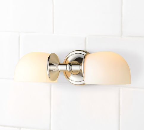 Mercer Double Horizontal Sconce Sconces Bath Fixtures
