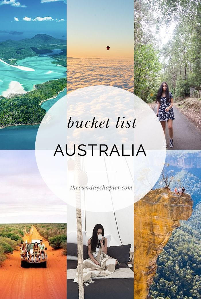 The Ultimate Australian Bucket List Buckets Australia And - Vacation to australia