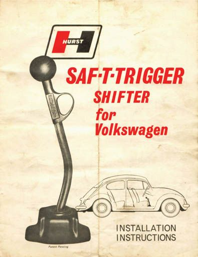 Hurst Shifter for the VW Bug  I so didn't know this even existed