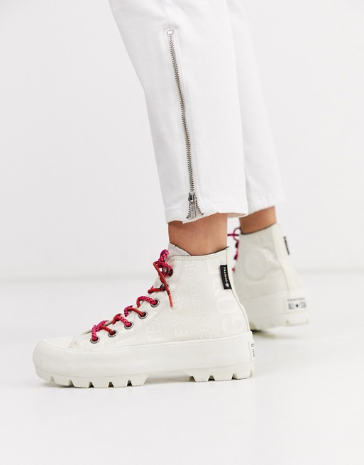 Converse white Goretex Chuck Taylor Hi Chunky Sole hiker boots