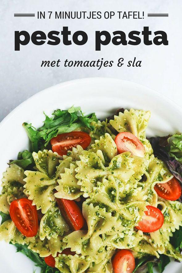 Verbazingwekkend Pin van Marij Ghielen op eten zonder vlees - Pesto pasta, Recepten EN-92