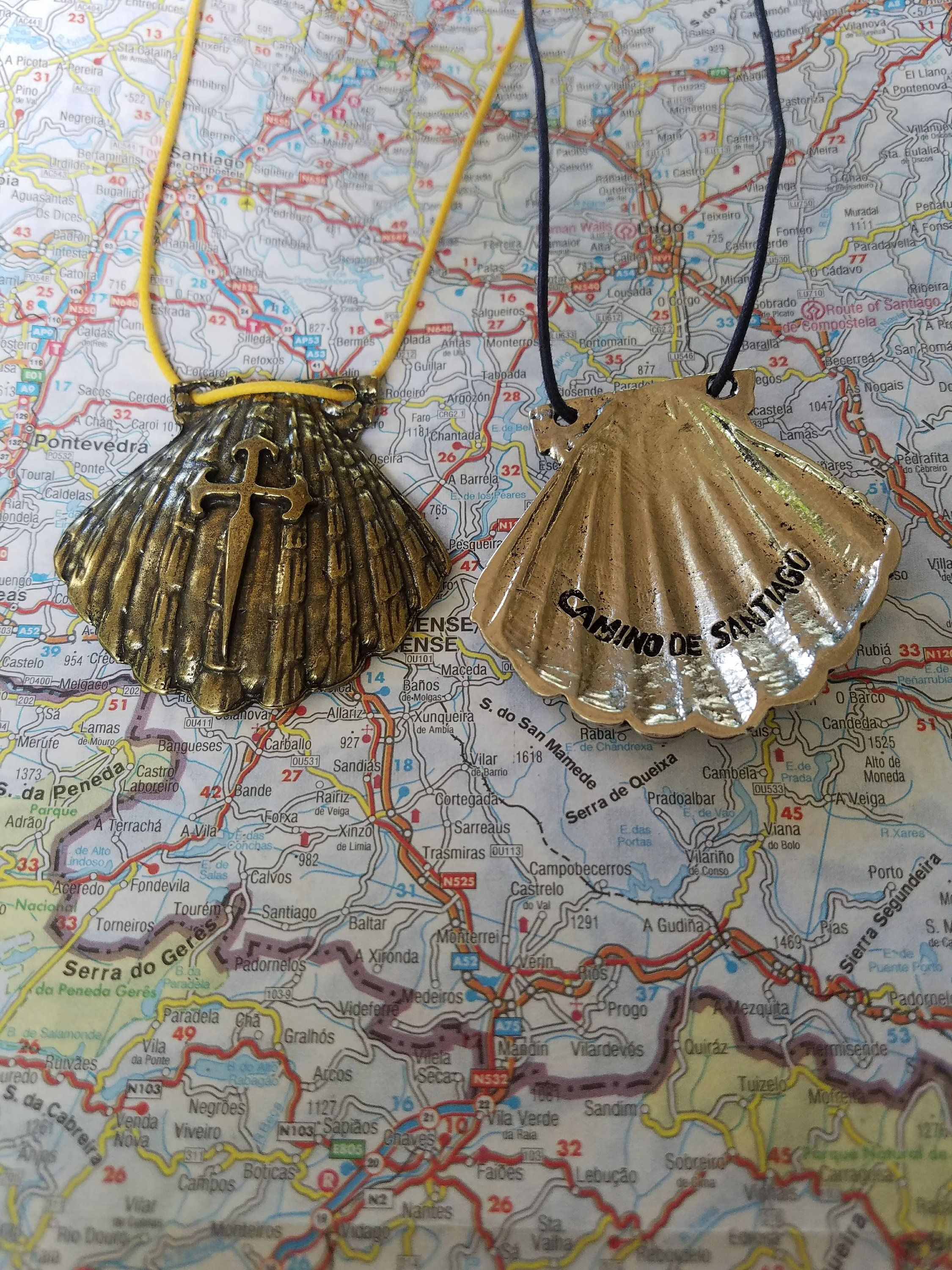Camino Santiago Shell Scallop Shell Pendant With