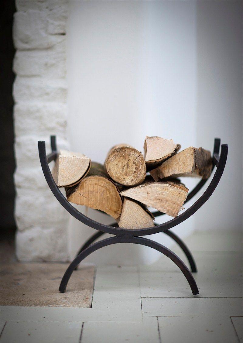 Iron log holder garden trading fireplace log holder pinterest