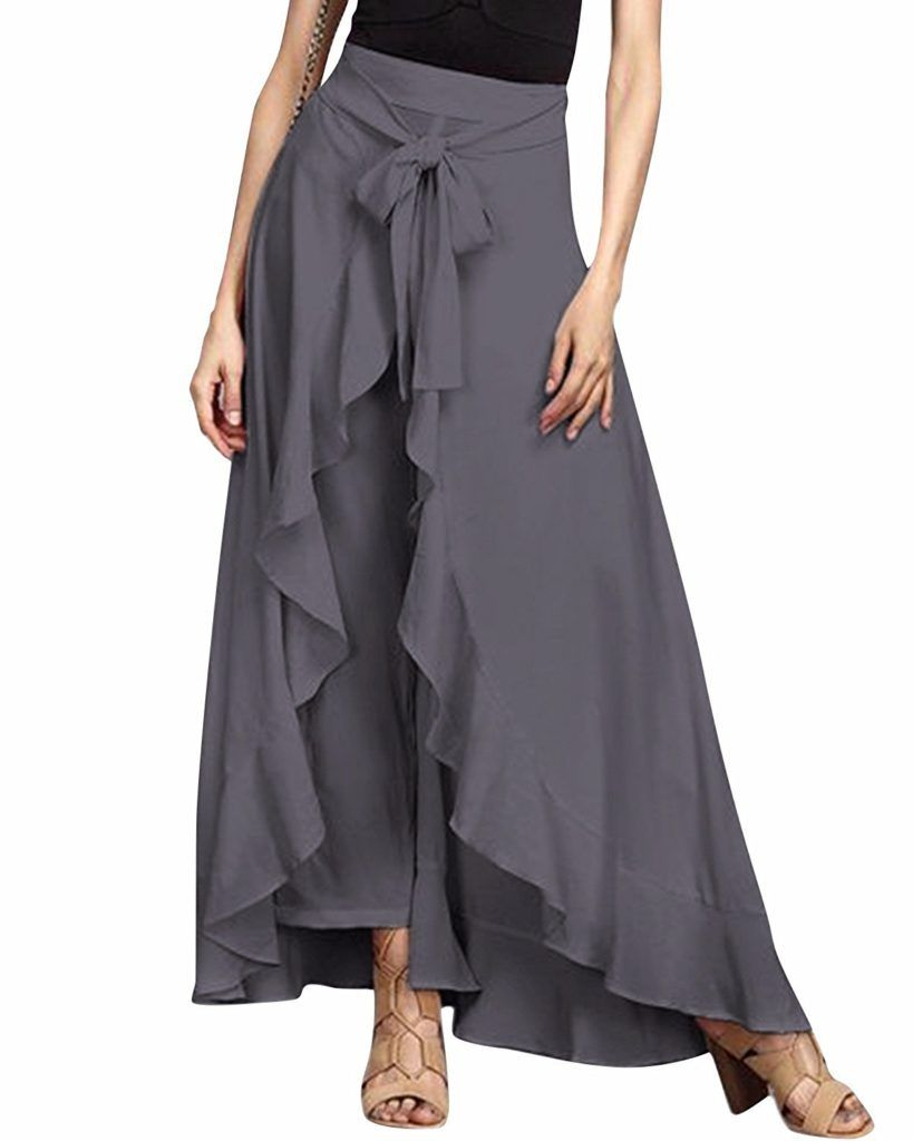 2019 year lifestyle- Maxi Chiffon skirt with split pictures