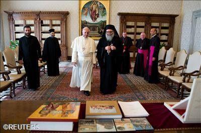 Pape François - Pope Francis - Papa Francesco - Papa Francisco - Rencontre du Pape et du Patriarche Youhanna X Yazigi