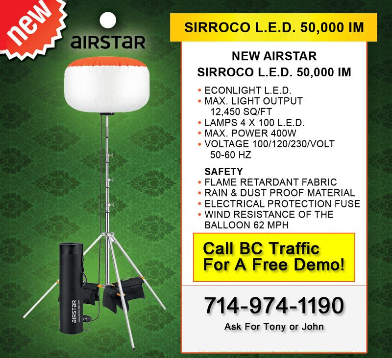 The Sirocco Led 50 000 Lumen Balloon Light From Airstar
