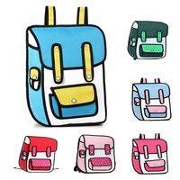 #Japan Unisex #3D Jump Style 2D Drawing #Cartoon Paper Comic #School #Backpack #Bag #Satchel T_WBH003