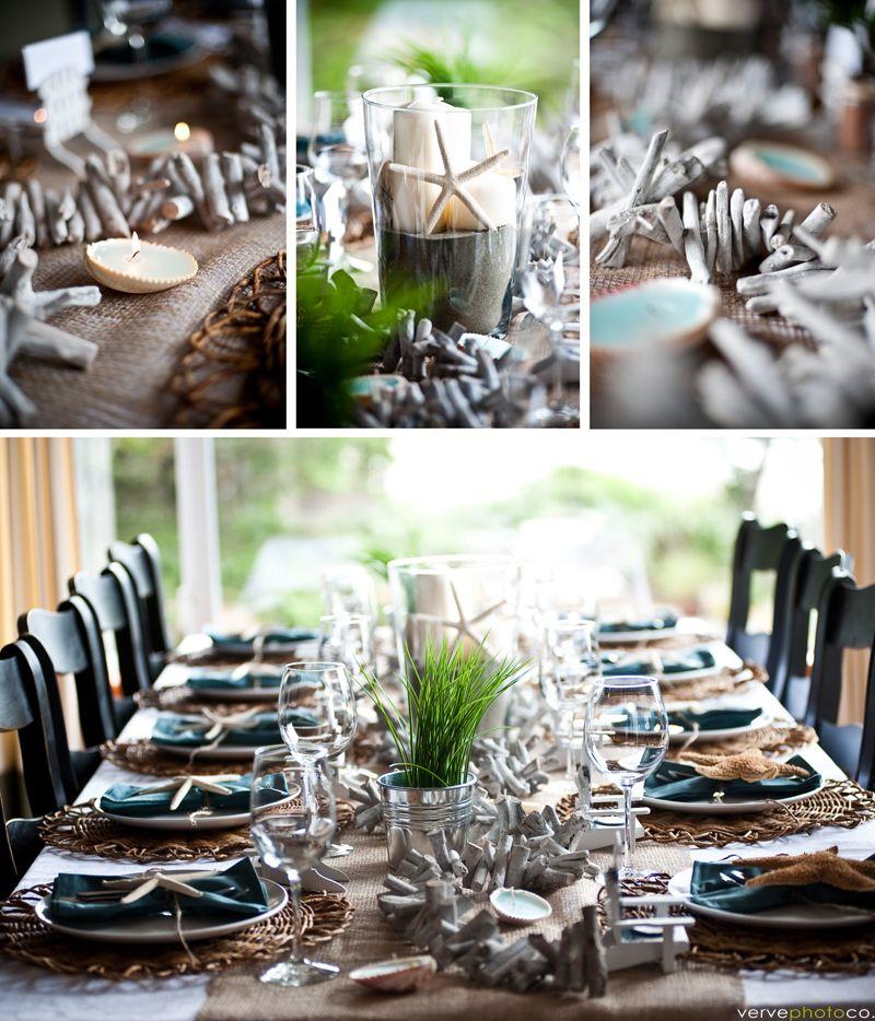 Destination Wedding Reception Ideas: Perfect Beach Wedding Reception Tablescape!