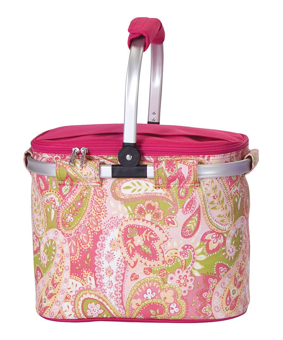 Look what I found on #zulily! Pink Paisley Shelby Collapsible Cooler Tote by Picnic Plus #zulilyfinds