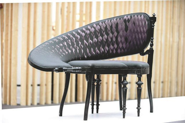 chaise haute couture lathe IX du néerlandais Sébastian Brajkovic