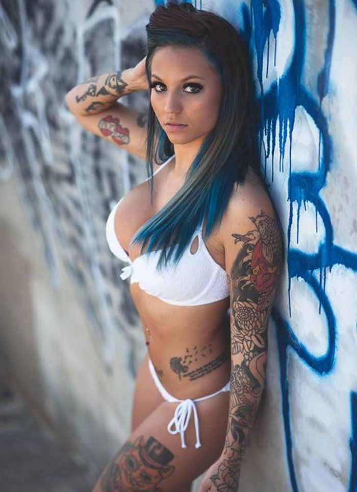 Image result for hot girl with tattoos