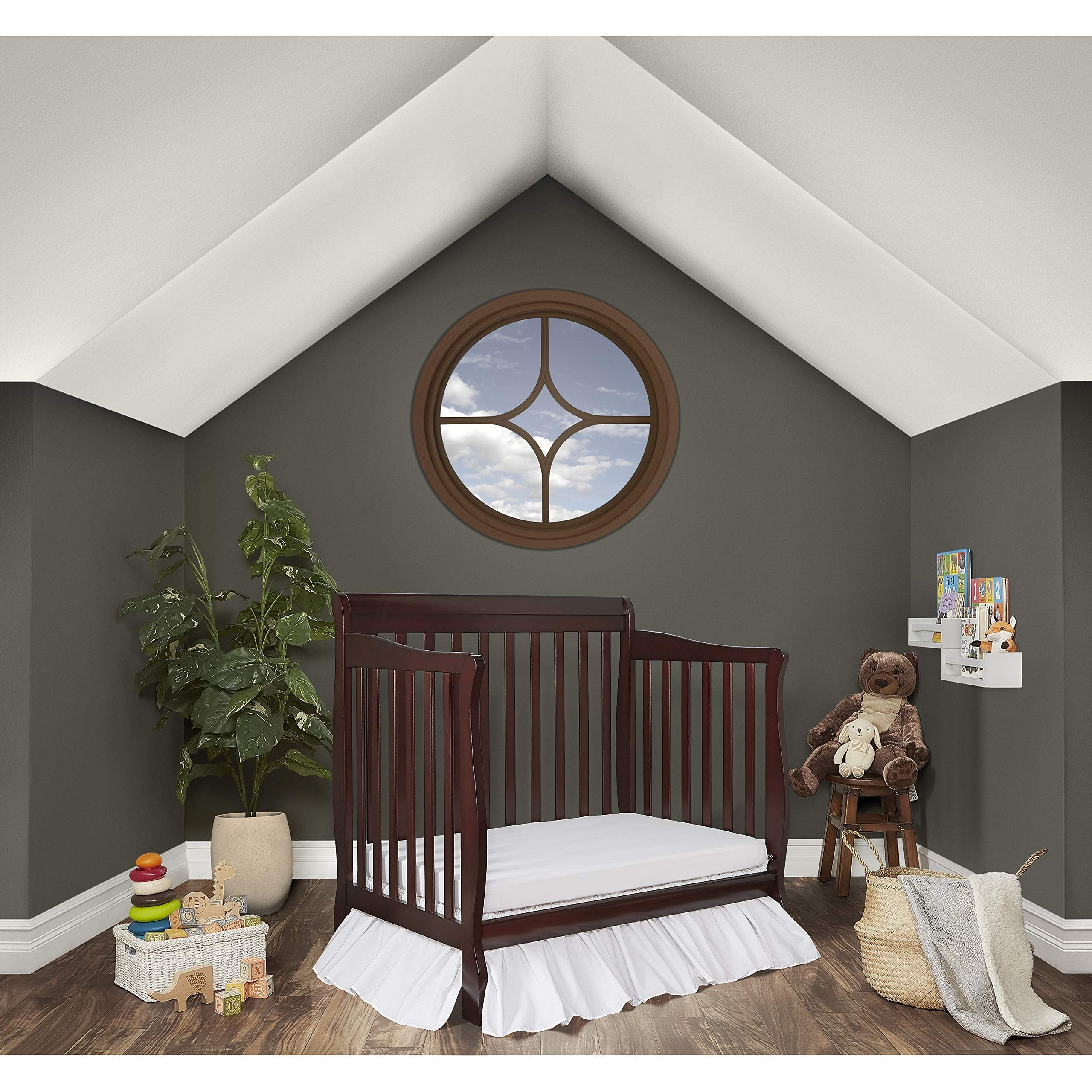 Dream On Me 4 In 1 Aden Convertible Mini Crib Espresso Want Additional Info Click On The Image It Is An Affiliate Link T In 2020 Mini Crib Convertible Crib Cribs
