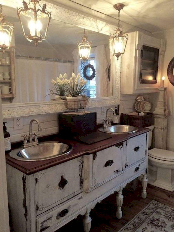 75 Cozy Shabby Chic Style Bathroom Decor Ideas Farmhouse