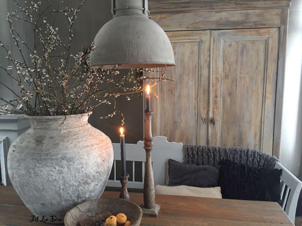 Vaas lamp kleur muur woon ideeën interieur keuken en decoratie
