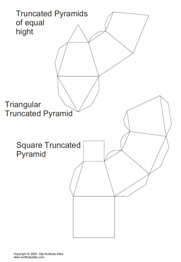 1000+ images about 3D Geometric box templates on Pinterest Paper - pyramid template