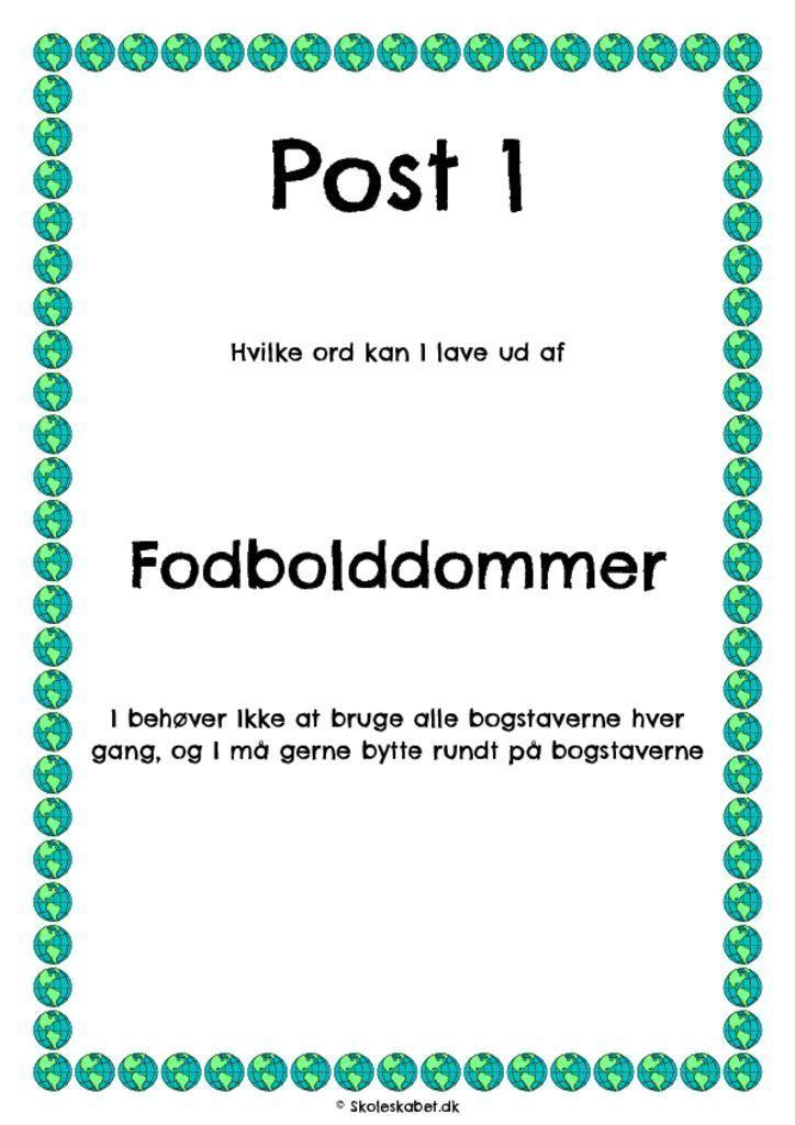 Dansklob Fodbold Sjov Skole Undervisning Skole