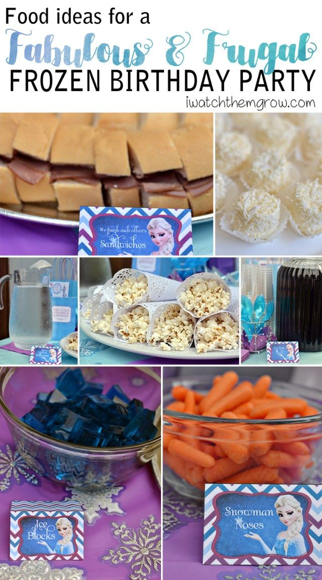 How to Throw a Fabulous (and Frugal) Frozen Birthday Party #frozenbirthdayparty