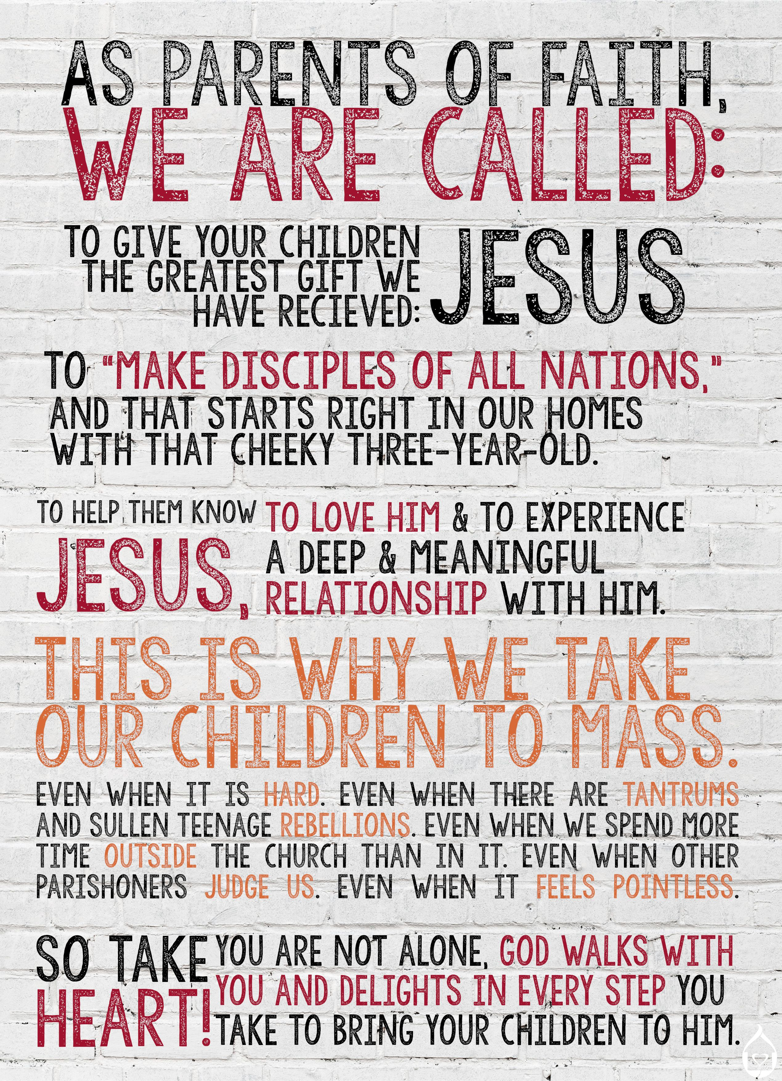 A Catholic Parent S Manifesto With Images