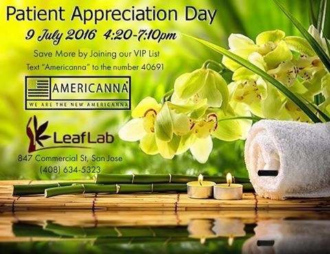 """@leaflab Swing by #leaflab in #SanJose on July 9 between 4:20-7:10pm. We'll be offering special deals for all patients, and our VIP club members will be able to use their coupon at any Americanna #DemoDay  Want to join our #viplist ❓ Just Text """"Americanna"""" to the number 40691.  #americannabrand #americannavapers #safemeds #420 #cannapeople #dispensary #collective #medicalcannabis #marijuana #sfbay #norcal #vapelife  #zen #medicalmarijuana #nofilter  #wellness #vape #vapor #vapelife #onelove…"""