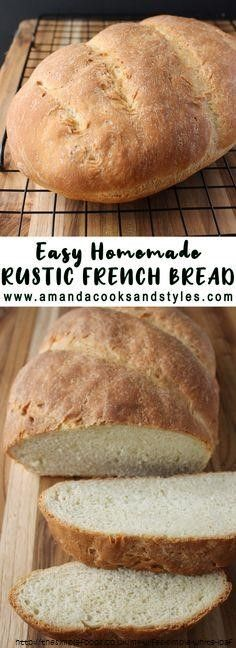 Home baked Rustic Loaf Recipe in 2020 | Homemade french ...
