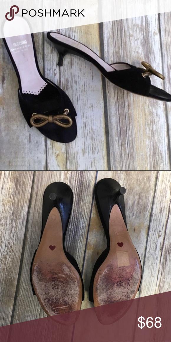Moschino Kitten Heel Sandals Black Kitten Heels Kitten Heel Sandals Moschino Shoes