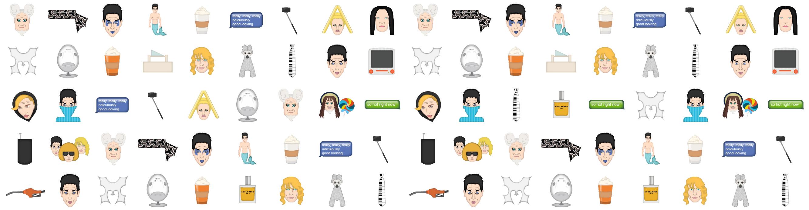 Zoomoji: Zoolander Emojis #infographic