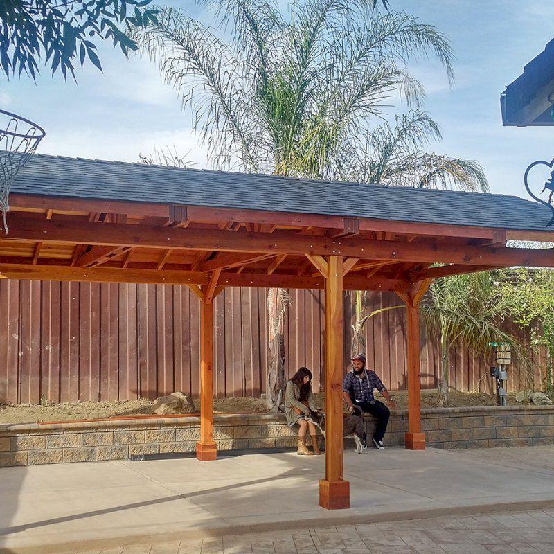 Del Norte Pavilion Options 25 L X 15 W California Redwood 6 Post Kit For Concrete 2 Ceiling Fan In 2020 Outdoor Covered Patio Backyard Pavilion Outdoor Pavilion