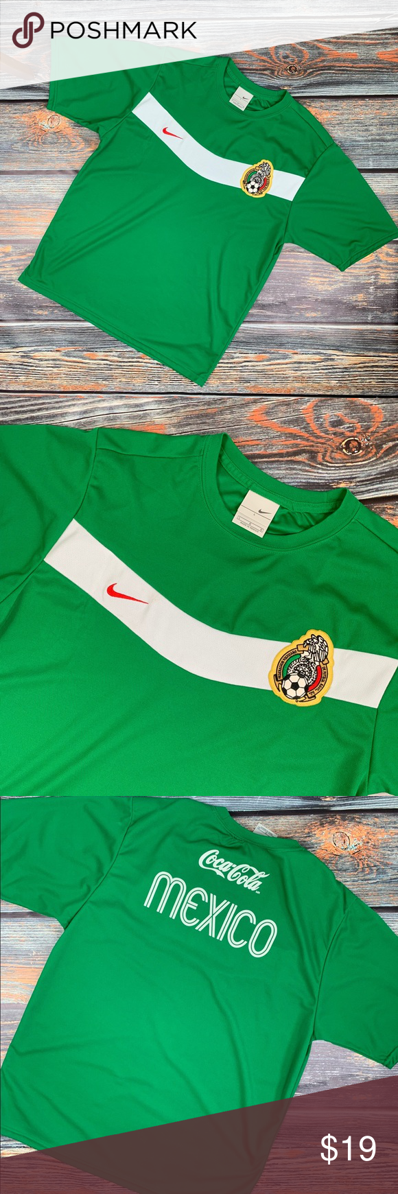 6a2dc003cce Vintage Nike Mexico National WorldCup SoccerJersey Vintage Nike Mexico  National Team World Cup Futbol Soccer Jersey. Size:LARGE Nike Shirts Tees -  Short ...