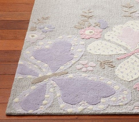 Gabrielle Rug Lily Butterfly Bedroom Kids Area Rugs